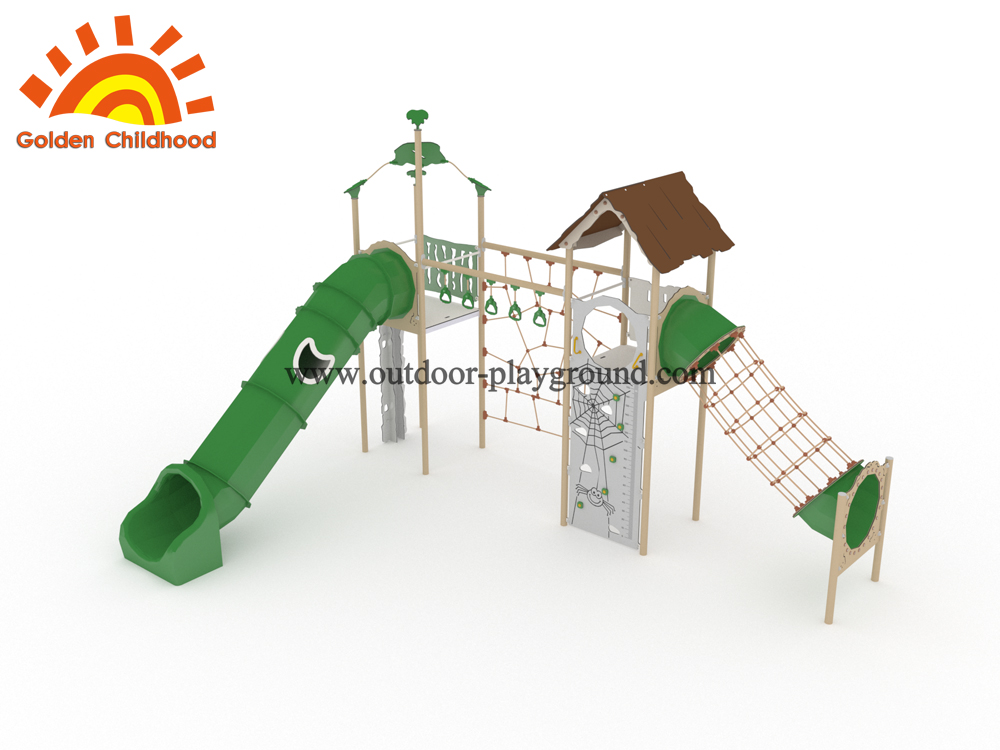 climbing structure with slide