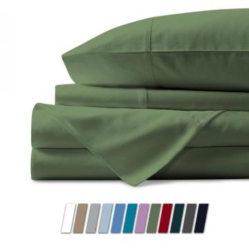 4PCS 100% Egyptian Cotton Bed Sheets