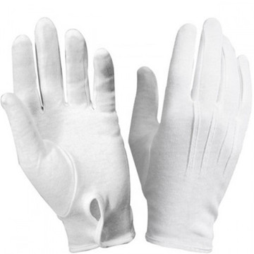 Inspection Cotton Gloves Military Parade White Cotton Gloves