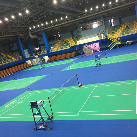 PVC badminton floor with BWF certificate