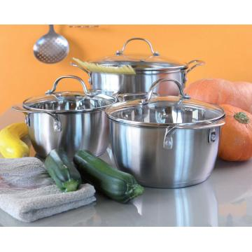 6pcs Concial shape cookware set