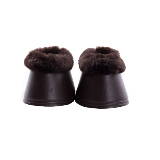 Lambskin bell boots with synthetic leather one pair