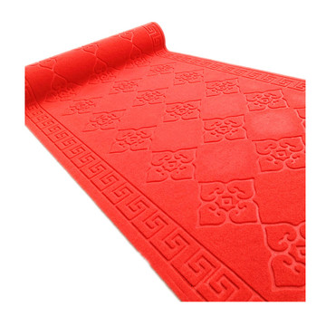 Custom pattern embossed polyester foot cleaning mat