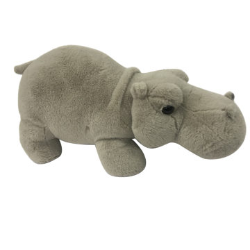 Plush Hippo Gray Toy