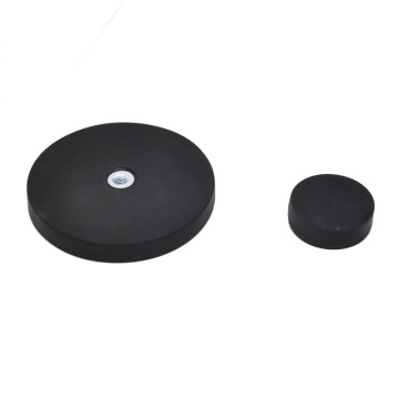 Rubber Pot Magnet Round Base Magnets