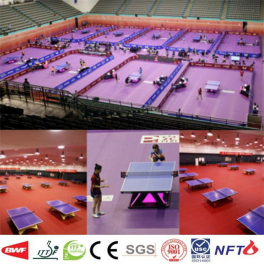 Enlio Table Tennis PVC Sports Flooring