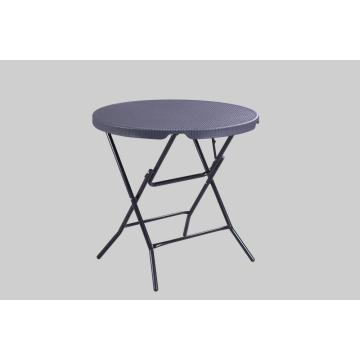 80cm Round Wicker Folding table