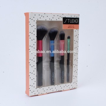 Four pcs/set cosmetic brush withe PVC corlor box