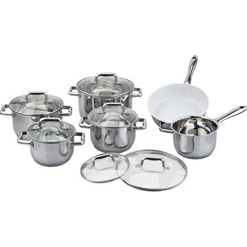 Ceramic coating 12pcs cookware set