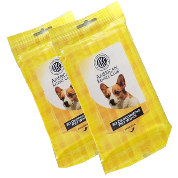 Small pack deodorizing pet wipes 30ct