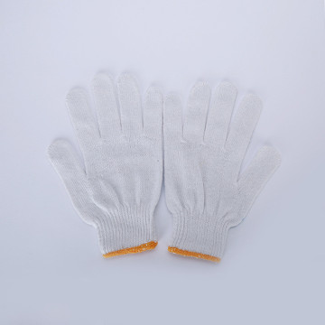Knitted cotton glove/String knitted cotton gloves