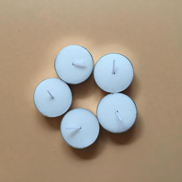 White Unscented Long Burning Wax Tealight Candle