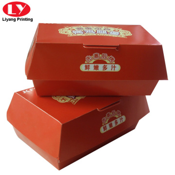 Food grade paper hamburger boxes printing