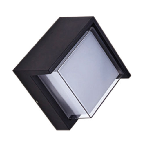 Square Modern 12W Outdoor Wall Light