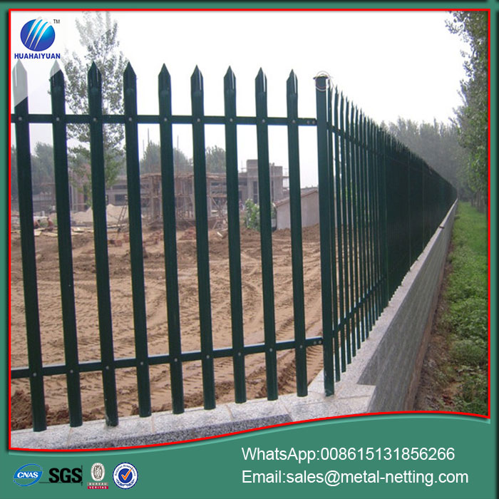 steel fence palisade fencing metal security fence