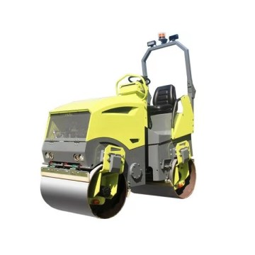 CE ride-on double drum road roller 2000KG