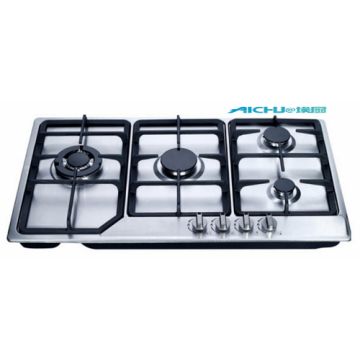 Built In 4 Burners Stainless Steel Gas Hob
