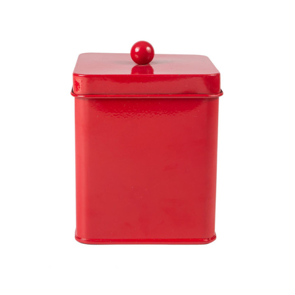Red kitchen tea sugar coffee canister