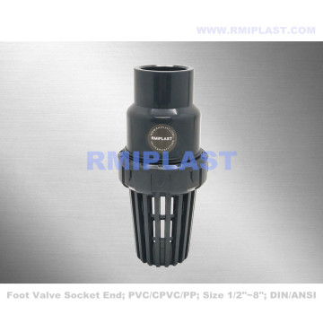 PVC Foot Valve Socket End JIS