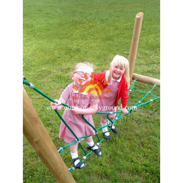 Wooden Park Activity Climbing Net