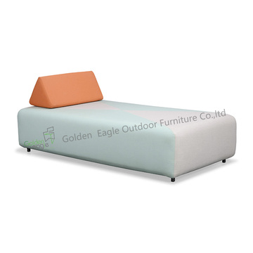 Foam inside outdoor beach sun lounger