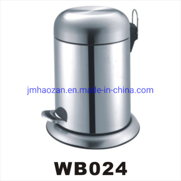 High Quality Stainless Steel Foot Pedal Trash Can, Dustbin