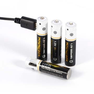 Rechargeable AAA Batteries With USB Charger