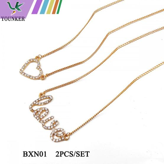 LOVE HEART FASHION NECKLACE SET