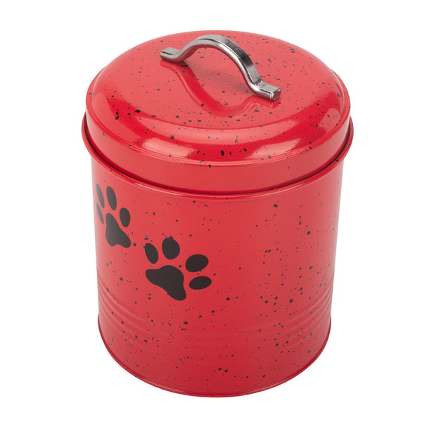 Red dog treat container box