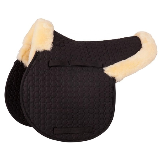 Horse equestrian products sheepskin saddle pad for jumping