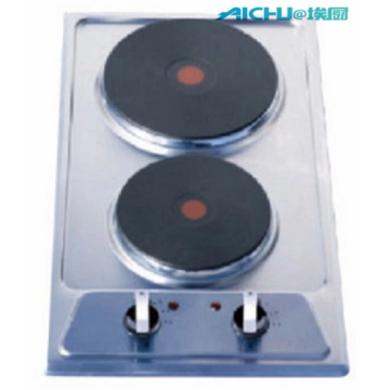 2 Burners Stainless Steel Electric Gas Hob
