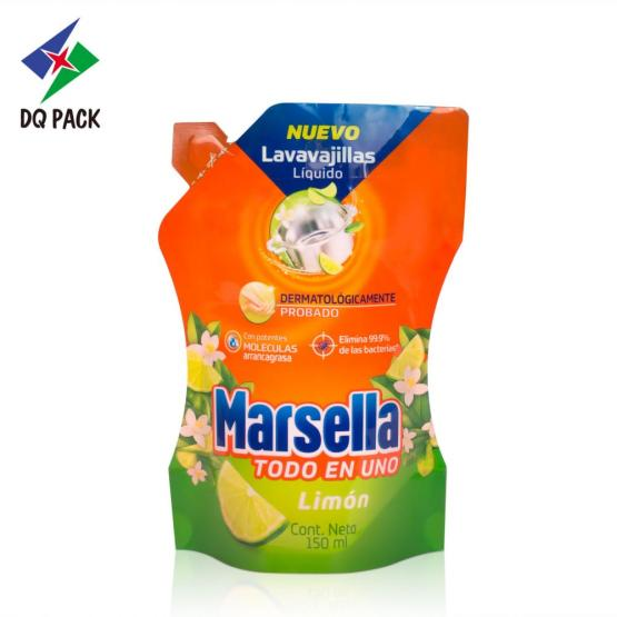 Liquid detergent stand up packaging bag