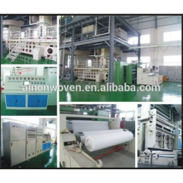 S, SS, SSS, SMS, SMMS Model PP Spunbond Nonwoven Production Line
