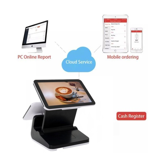 125 Dual Screen pos tablet stand