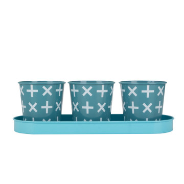 Flower plant pot set of 3