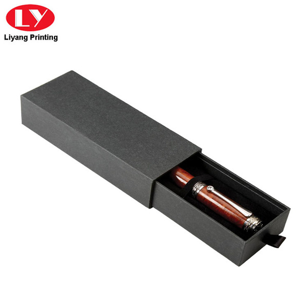 Executive Black Drawer Slide Single Pen Boxes