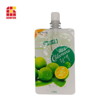 Custom Fruit Juice Pouch Pack With Spout