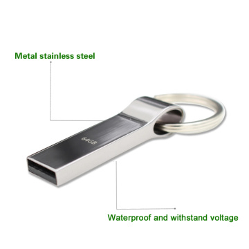 metal usb flash drive with keychain 2.0 pendrive
