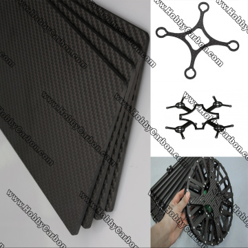 CNC machining 3k twill matte carbon fiber sheet
