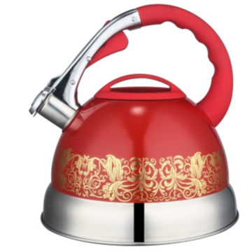 3.0L color painting whistling Teakettle red color
