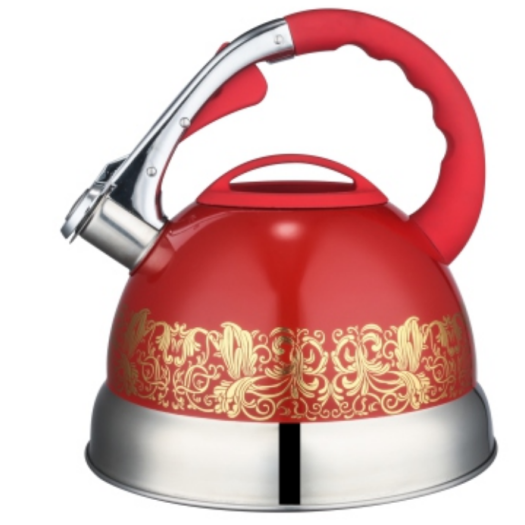 2.5L color painting whistling Teakettle red color