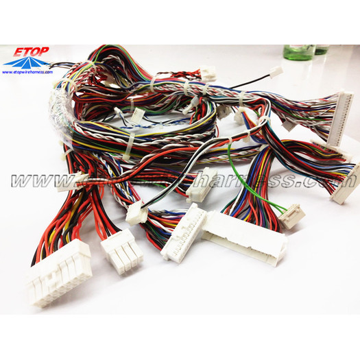 Wiring assemblies for game machine
