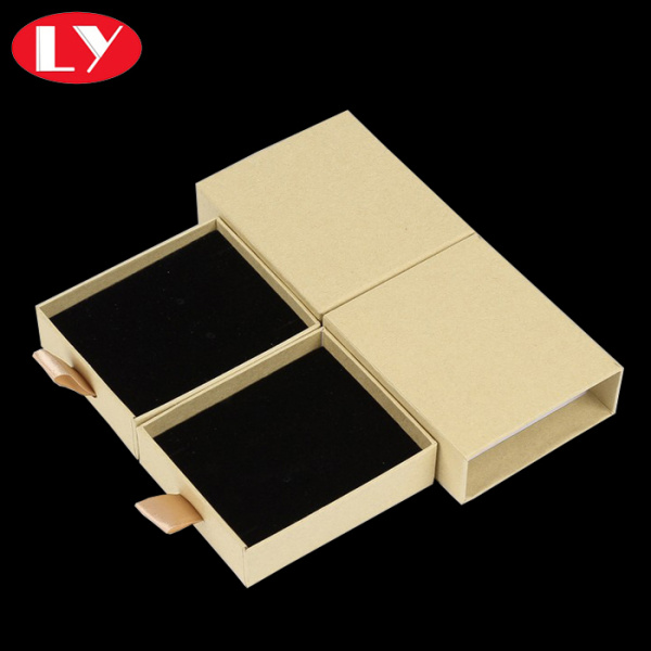 Cream yellow necklace drawer box for jewellry