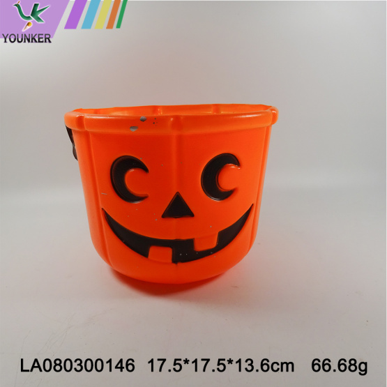 Wholesale plastic pumpkin candy bucket