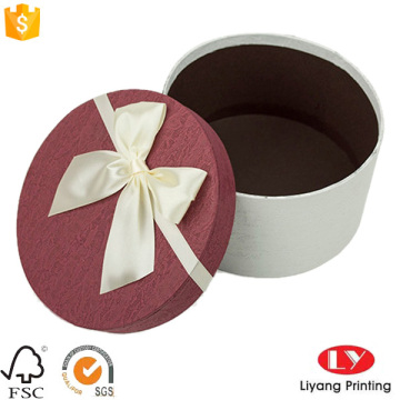 Paper mache custom printed round gift boxes