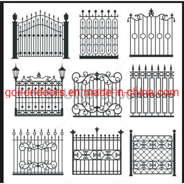 Powder Coated Garden Decoration Cast Iron Fence