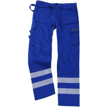 Blue Flame Retardant Pants with Silver Tape
