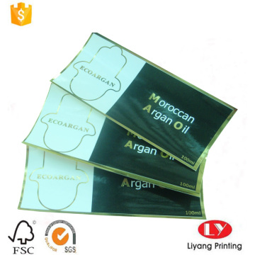 Cheap paper sticker printing with gold stamping