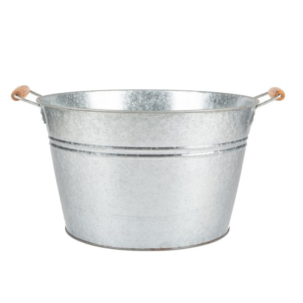 Galvanized Metal Ice Bucket Engraved