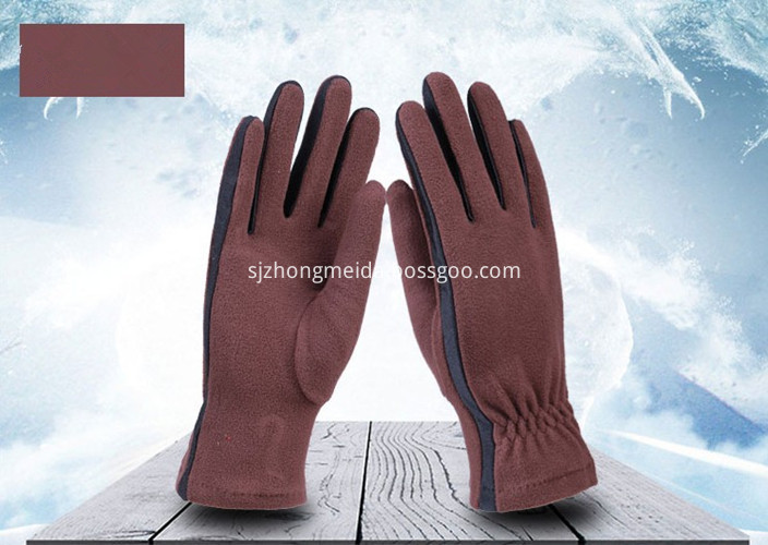 Fleece Gloves Coffee